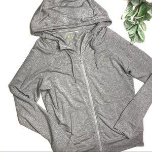 ZELLA | sz M gray lightweight zip up hoodie